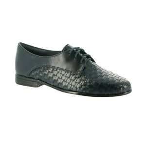 Trotters 6W Lizzie Lace up woven oxford Flats